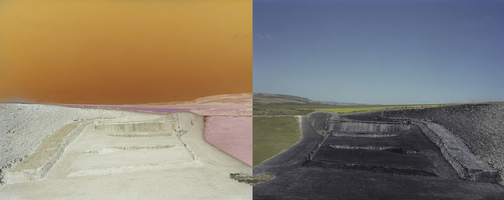 Field of Vision II - Tarring Neville Chalk Quarry, Sussex, C-Type Digital Print - Diptych 31 x 80ins /  79  x 202cms (Edition of 20) £700.000 Print Only