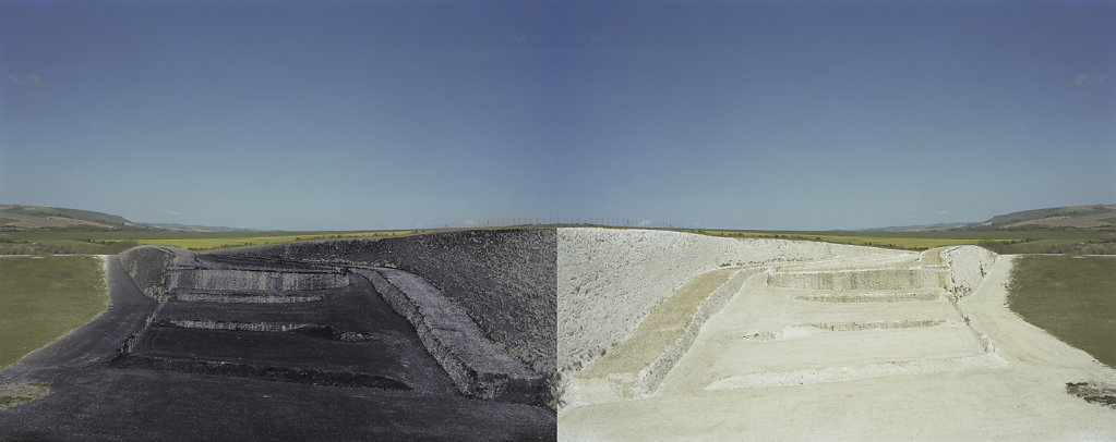 Field of Vision III - Tarring Neville Chalk Quarry, Sussex, C-Type Digital Print - Diptych 31 x 80ins /  79  x 202cms  (Edition of 20) £700.000 Print Only